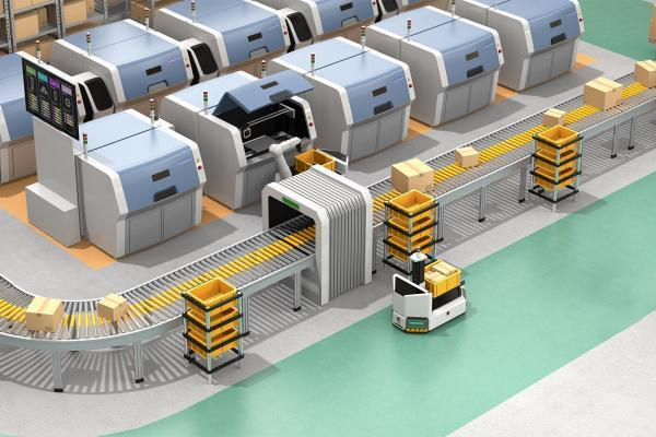 Omron Cobot AIV processing floor